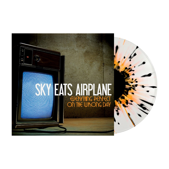 "Sky Eats Airplane - ""Everything Perfect On The Wrong Day"" Clear w/ Orange + Black Splatter Vinyl"