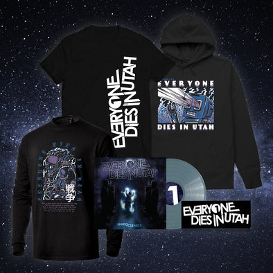 "Everyone Dies In Utah - ""Seeing Clearly"" Translucent Blue Vinyl MEGA Bundle"