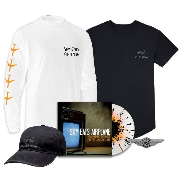 Sky Eats Airplane - E.P.O.T.W.D. Clear w/ Orange + Black Splatter Vinyl Mega Bundle