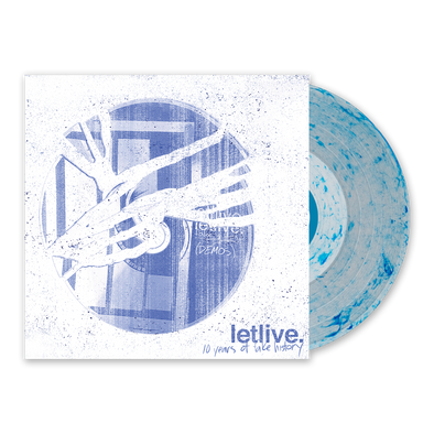 "letlive. ""10 Years of Fake History"" Clear w/ Blue Whirlpool Vinyl"