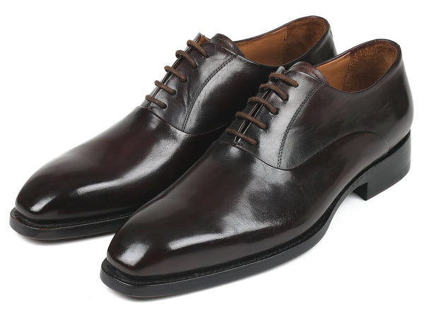 Paul Parkman Men's Plain Toe Oxfords Brown (ID#5661-BRW)