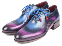 Paul Parkman Opanka Construction Blue & Purple Oxfords (ID#726-BLU-PUR)