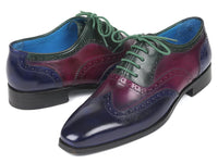 Paul Parkman Men's Multi Color Wingtip Oxfords (ID#PP2284)