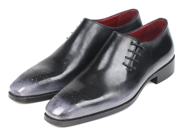 Paul Parkman Side Lace Oxfords Gray Burnished (ID#857F25)