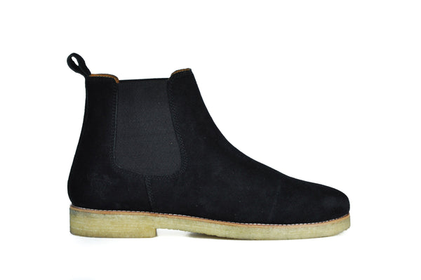 Hound and Hammer Suede Chelsea Boots, Black