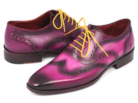 Paul Parkman Men's Wingtip Oxfords Lilac Hand Painted Calfskin