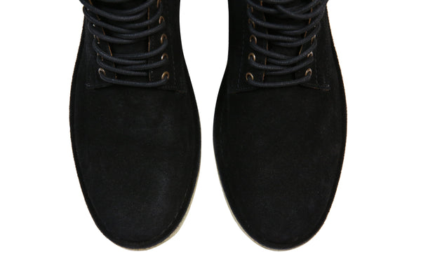 Hound and Hammer Men's Laced Suede Boots, Black