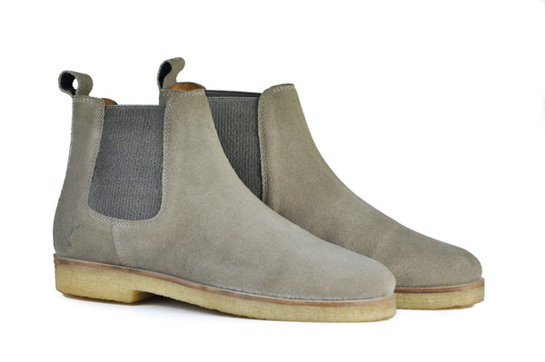 Hound and Hammer Men's Suede Chelsea Boots, Khaki