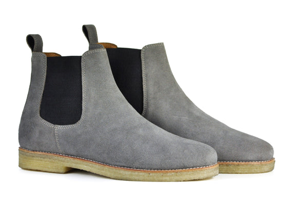 Hound and Hammer Men's Suede Chelsea Boots, Grey