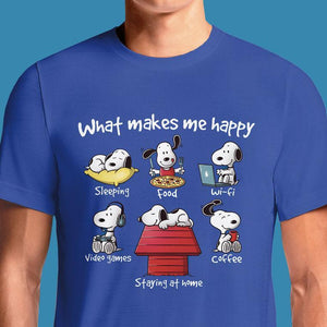What Makes Me Happy  - Buy Cool Graphic T-shirt for Men Women Online in India | OSOM
