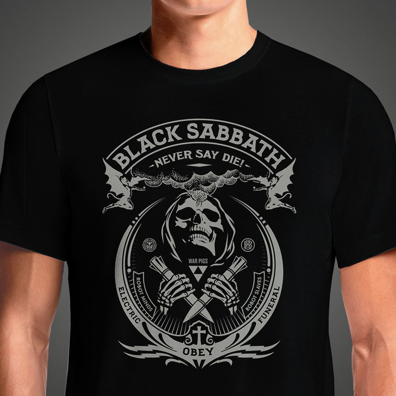 Black Sabbath Reaper  - Buy Cool Graphic T-shirt for Men Women Online in India | OSOM