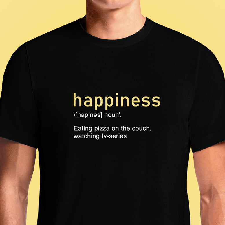 Happiness  - Buy Cool Graphic T-shirt for Men Women Online in India | OSOM
