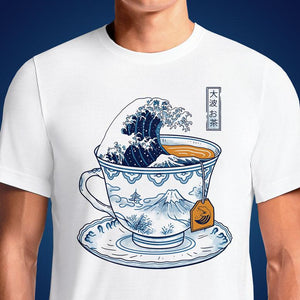 The Great Kanagawa Tea  - Buy Cool Graphic T-shirt for Men Women Online in India | OSOM