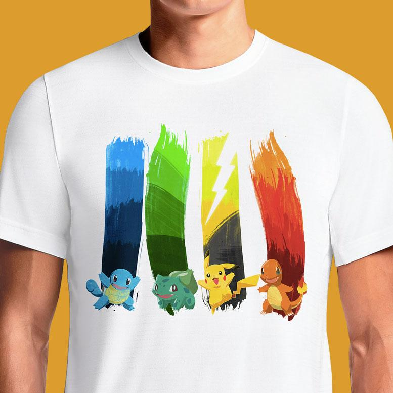 Pok̩ Brushes  - Buy Cool Graphic T-shirt for Men Women Online in India | OSOM