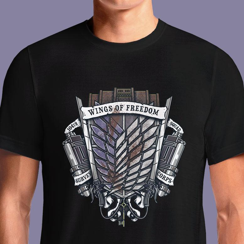 Survey Corps Crest  - Buy Cool Graphic T-shirt for Men Women Online in India | OSOM