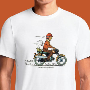 Tintin Ride  - Buy Cool Graphic T-shirt for Men Women Online in India | OSOM