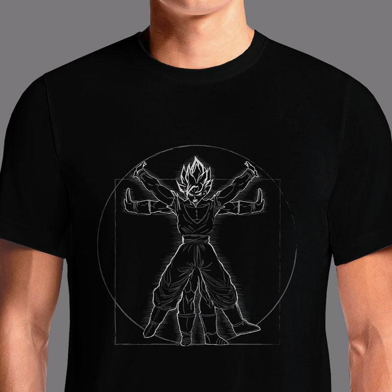 Vitruvian Saiyan  - Buy Cool Graphic T-shirt for Men Women Online in India | OSOM