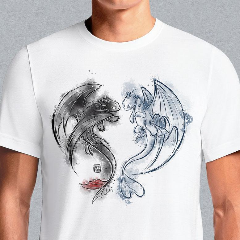 Eternal Dragons  - Buy Cool Graphic T-shirt for Men Women Online in India | OSOM