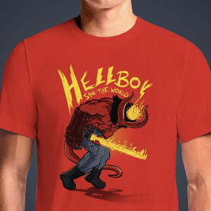 Hellboy Save The World  - Buy Cool Graphic T-shirt for Men Women Online in India | OSOM