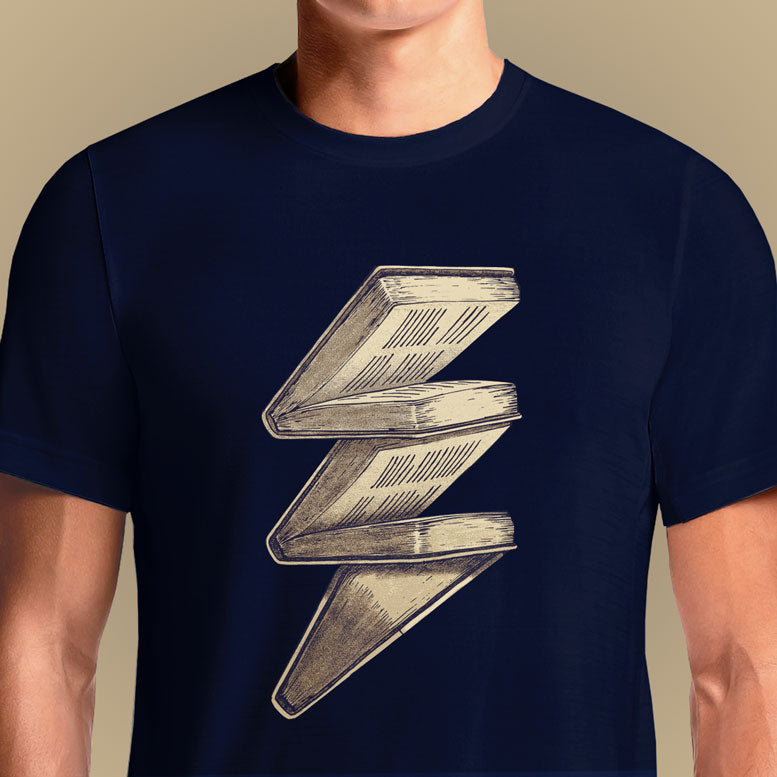 Knowledge Lightning  - Buy Cool Graphic T-shirt for Men Women Online in India | OSOM