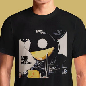 Raise Your Weapon  - Buy Cool Graphic T-shirt for Men Women Online in India | OSOM