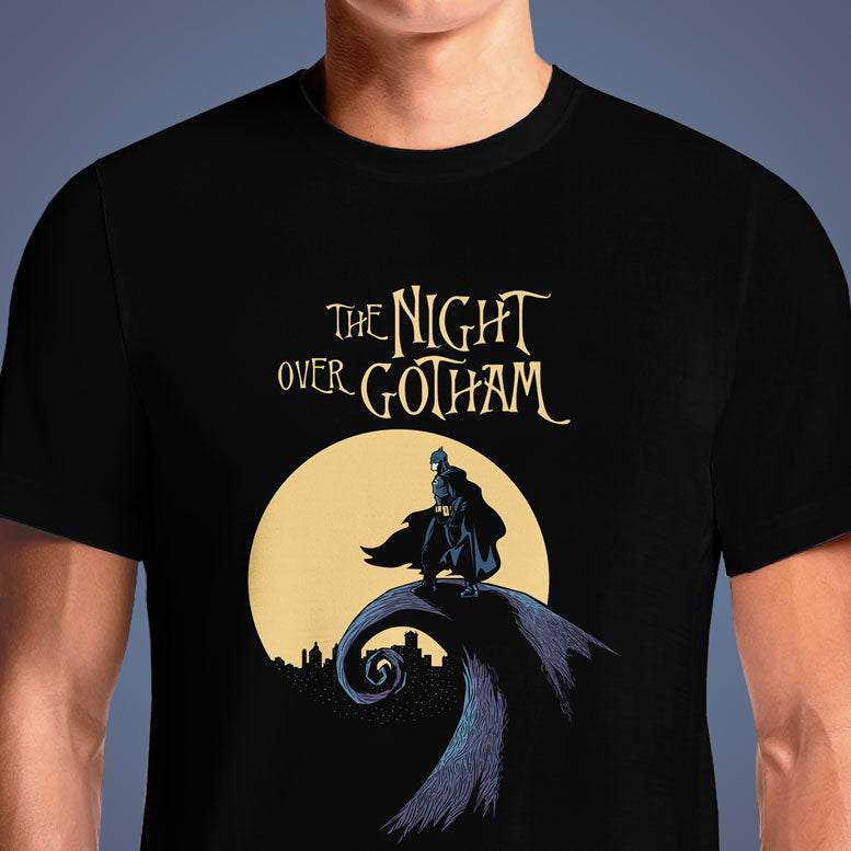 The Night Over Gotham  - Buy Cool Graphic T-shirt for Men Women Online in India | OSOM