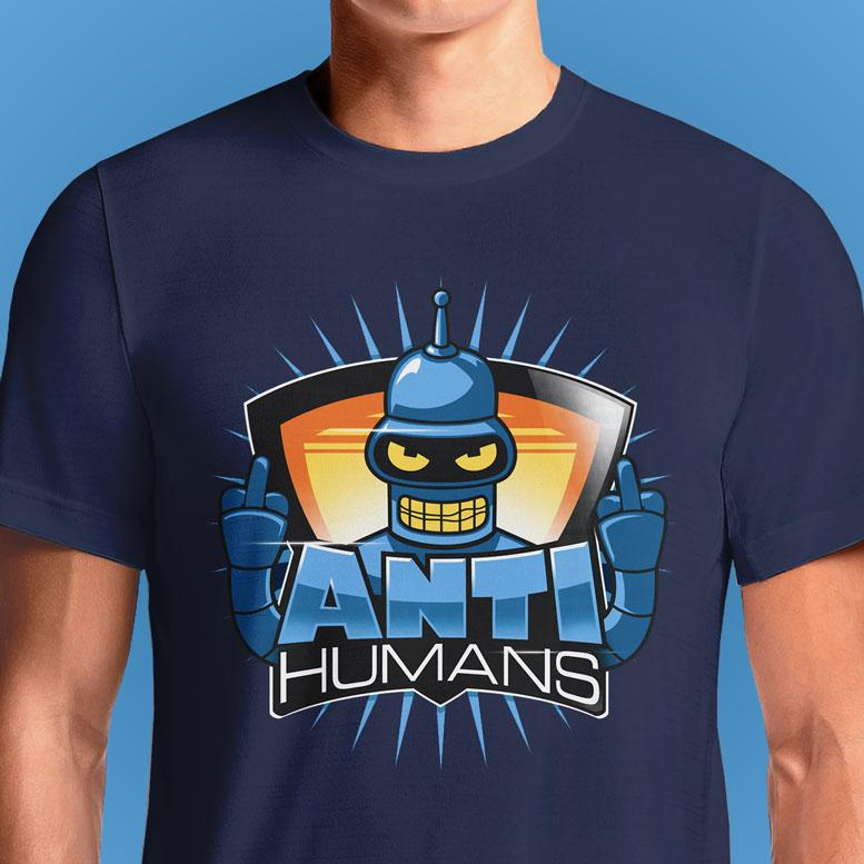 RudeBot Anti Humans  - Buy Cool Graphic T-shirt for Men Women Online in India | OSOM