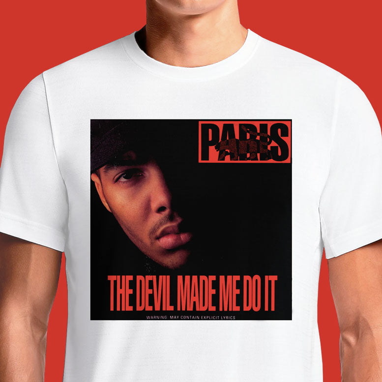 Paris The Devil Made Me Do It  - Buy Cool Graphic T-shirt for Men Women Online in India | OSOM