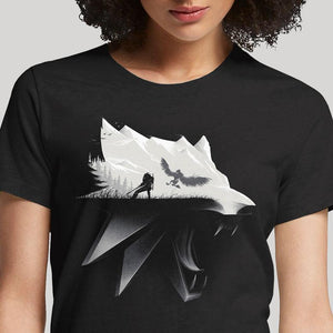 Witcher Wolf  - Buy Cool Graphic T-shirt for Men Women Online in India | OSOM