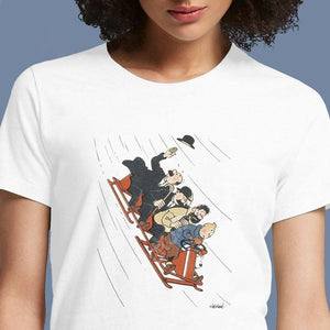 Tintin Bobsleigh  - Buy Cool Graphic T-shirt for Men Women Online in India | OSOM