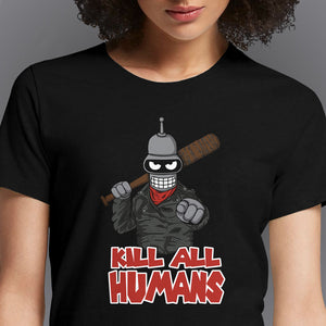 The Walking Bot  - Buy Cool Graphic T-shirt for Men Women Online in India | OSOM
