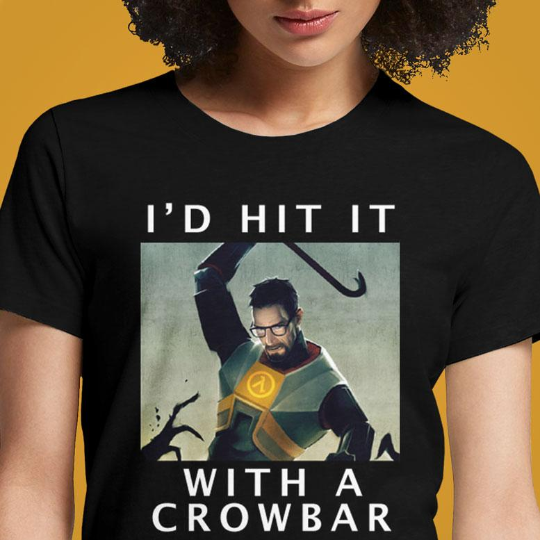 Half Life Crowbar  - Buy Cool Graphic T-shirt for Men Women Online in India | OSOM
