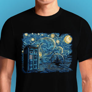 Starry Gallifrey  - Buy Cool Graphic T-shirt for Men Women Online in India | OSOM