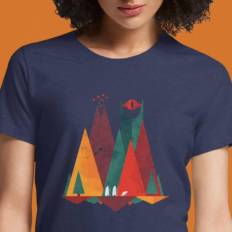 Geometric Middle Earth  - Buy Cool Graphic T-shirt for Men Women Online in India | OSOM