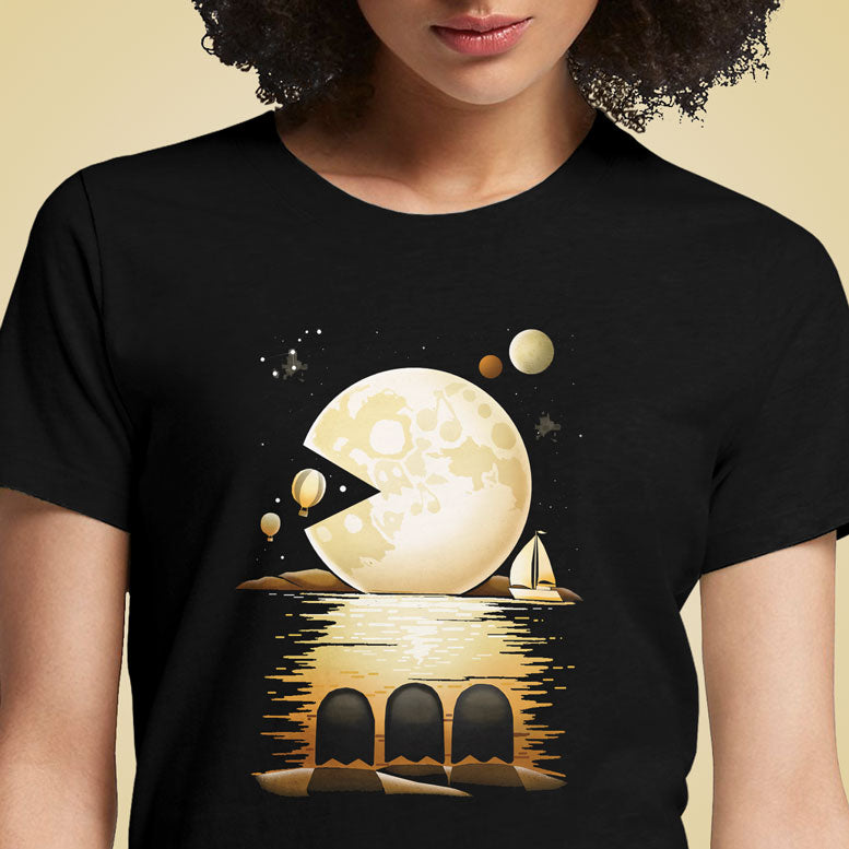 Pac Moon  - Buy Cool Graphic T-shirt for Men Women Online in India | OSOM