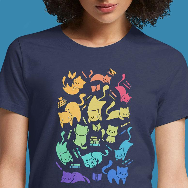 Cats & Books  - Buy Cool Graphic T-shirt for Men Women Online in India | OSOM