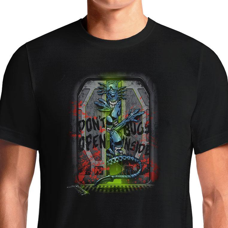 Don't Open Bugs Inside  - Buy Cool Graphic T-shirt for Men Women Online in India | OSOM