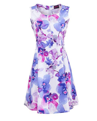 Purple Orchid Pinafore Nursing Dress by Peachymama