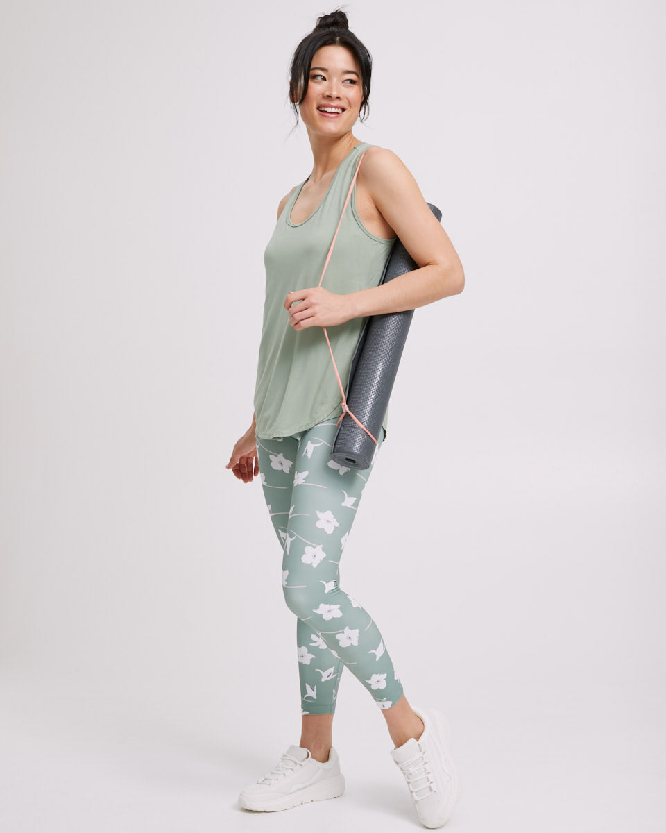 Postpartum Activewear Leggings - Khaki - Peachymama US 4