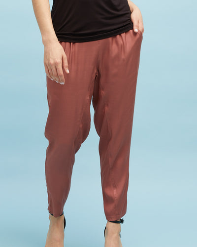 Smart Postpartum Pant - Wood Rose - Peachymama - 1