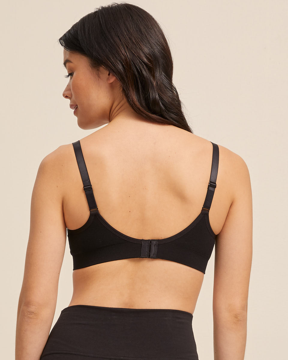 Nursing Bra - Seamfree - Black - Peachymama US 3