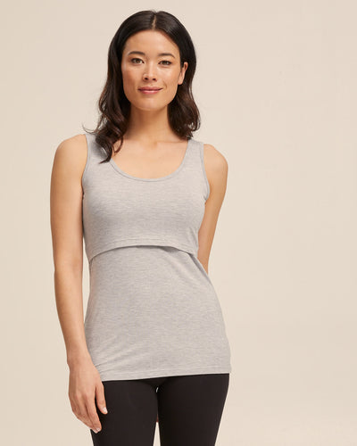 Gray nursing tank top by Peachymama 1