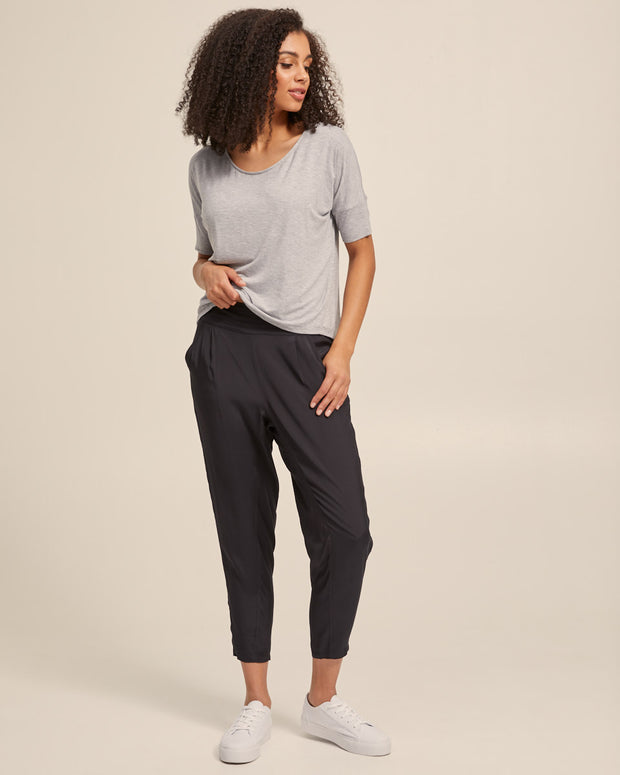 Smart Postpartum Pants - Washed Black - Peachymama - 3