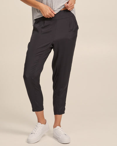 Smart Postpartum Pants - Washed Black - Peachymama - 1
