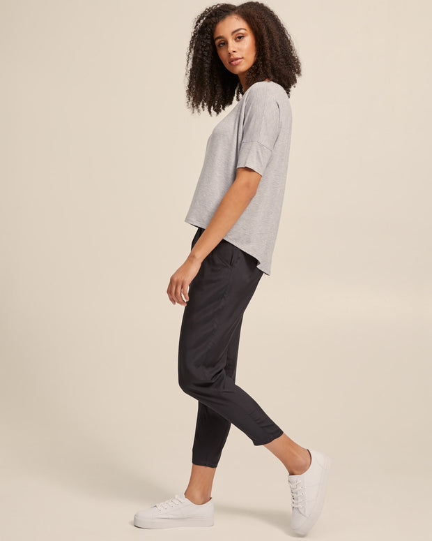 Smart Postpartum Pants - Washed Black - Peachymama - 4