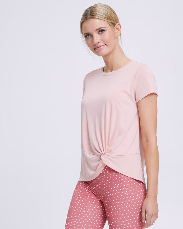 Active Twist Nursing Tee - Sand - Peachymama - 4