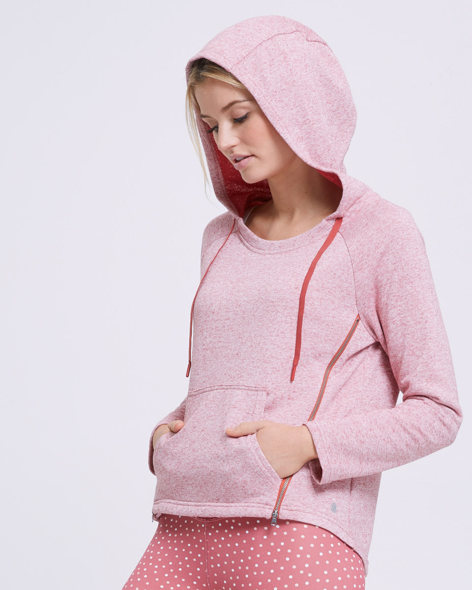 Zip Up Nursing Hoodie - Rosetta - Peachymama - 3
