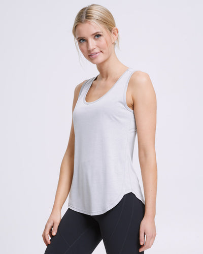 Active Curve Hem Nursing Tank - Grey - Peachymama - 1