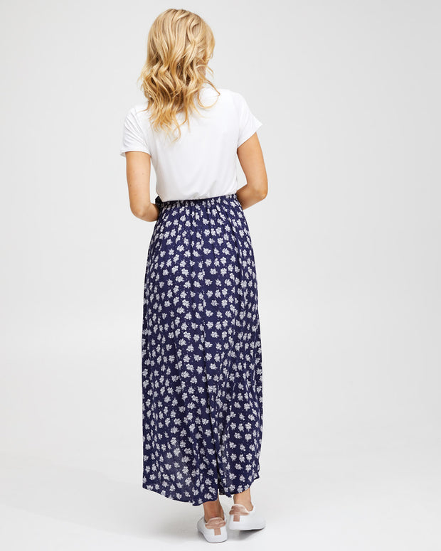 Wrap Skirt - Navy Floral - Peachymama - 4