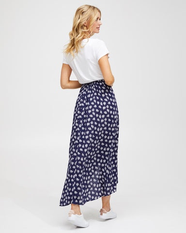 Wrap Skirt - Navy Floral - Peachymama - 2